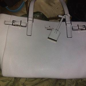 Kate Spade rare white leather satchel sample